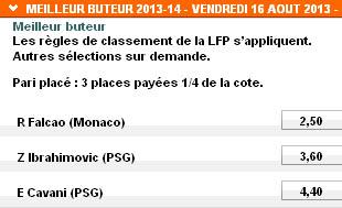 'Meilleur buteur 2013-14' au PMU pour la L1