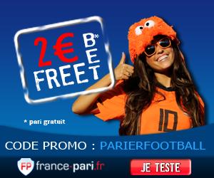 Pari gratuit (freebet) du bookmaker France-pari pour découvrir sans risque et sans engagement leur site de pari sportif